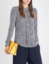 MICHAEL Michael Kors Thora ruffled floral-print silk-crepe blouse