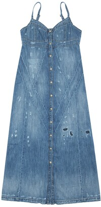 Diesel Stretch Cotton Denim Dress