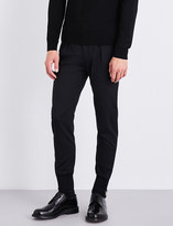 Paul Smith Zipped cuffs slim-fit stretch-wool trousers