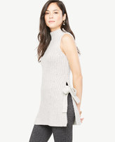 Ann Taylor Sleeveless Side Tie Tunic Sweater
