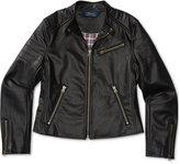 Ralph Lauren Faux-Leather Moto Jacket, Big Girls (7-16)