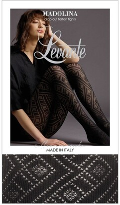 Levante Madolina Drop Out Tartan Tight LEVMADDOT Charcoal