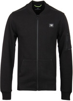Creative Recreation Turlock Black Zip Through Bomber Sweatshirt