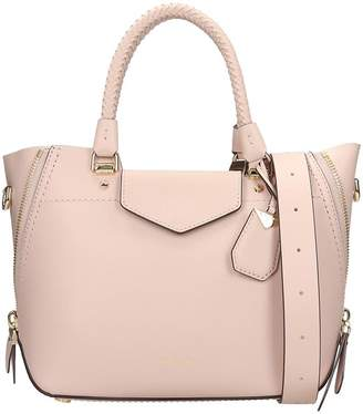 Michael Kors Hand Bag In Rose-pink Leather