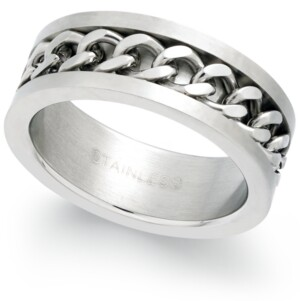 Sutton by Rhona Sutton Men's Stainless Steel Chain Ring