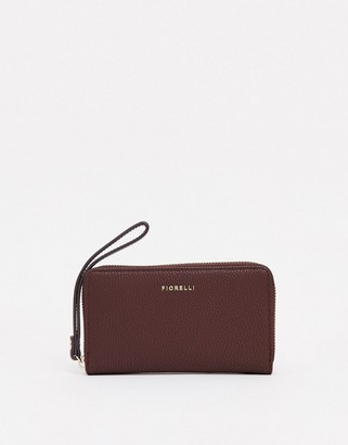 Fiorelli finley purse with wrist strap in chocolate