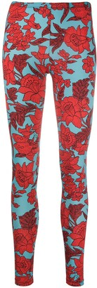La DoubleJ Floral-Print Leggings