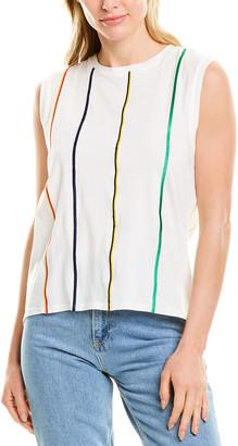 Derek Lam 10 Crosby Embroidered Stripe Top