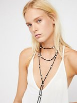 Freshwater Pearl Suede Wrap Necklace by Lead at Free People