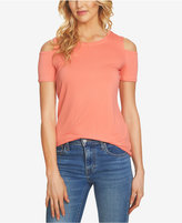 1 STATE 1.STATE Crew-Neck Cold-Shoulder T-Shirt