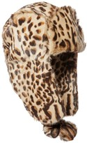 Eric Javits Meow Leopard-Print Goat Fur Trapper Hat