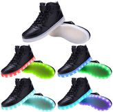 TUTUYU Kids&Adult 11 Colors LED Light Up Shoes High Top Flashing Sneakers for Christmas 42