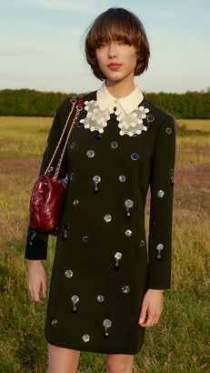 Tory Burch Jewel Embroidered Shift Dress