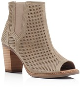 Toms Majorca Perforated Open Toe Booties