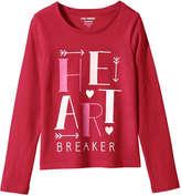 Joe Fresh Kid Girls' Valentine's Graphic Print Tee, Red (Size XL)