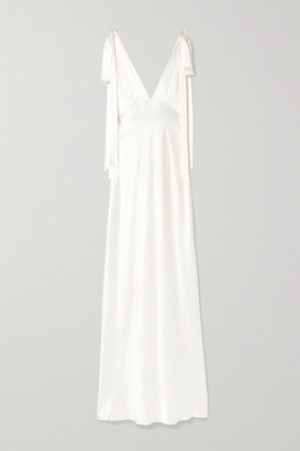 Les Rêveries Silk-charmeuse Gown - Ivory