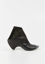 Marsèll black ankle boot with asymmetrical details
