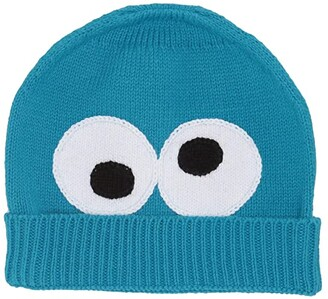 Sesame Street Finn + Emma finn + emma Isaac Mizrahi Loves Cookie Beanie (Toddler) (Blue) Beanies