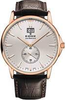 Edox Men's 64012 37R AIR Les Bemonts Analog Display Swiss Quartz Brown Watch