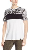 Southpole Men's Cut and Sewn T-Shirt with All Over Polka Dotted Camo Patterns On Top