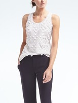 Banana Republic Embroidered Fringe Tank