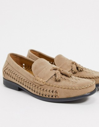 Brave Soul faux suede loafers in beige