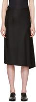 Y's Ys Black Bias Tight Skirt
