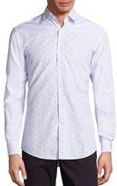 Salvatore Ferragamo Gancini Check Button-Down Shirt