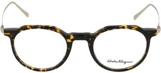 Salvatore Ferragamo Eyewear Round Frame Glasses