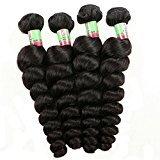 Eecimail 8A 7 Brazilian Virgin Loose Wave Hair Wavy Hair 7 Bundles 26 inch Unprocessed Natural Black 100g/bundle