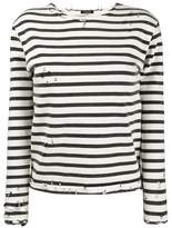 R 13 Striped Long Sleeve T-Shirt