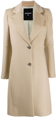Patrizia Pepe Single-Breasted Fitted Coat