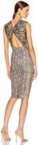 Victoria Beckham Sleeveless Twist Back Fitted Dress in Khaki | FWRD