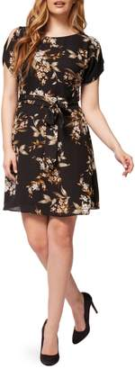 Dex Botanical-Print Tie-Waist Dress