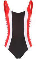 Moschino striped logo one-piece swimsuit