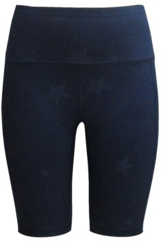 Ideology Embossed-Star High-Rise Bike Shorts, Created for Macy's
