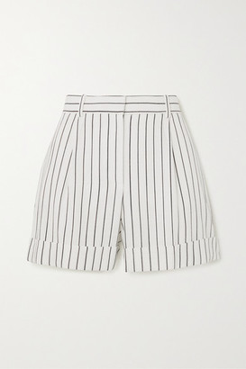 Bella Freud Charlie Pinstriped Woven Shorts - White