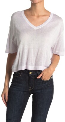 Line Luiza Boxy Crop V-Neck T-Shirt