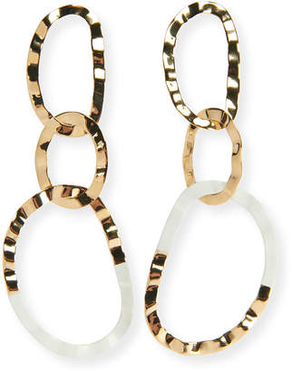 Etoile Isabel Marant Hammered Resin Link Drop Earrings