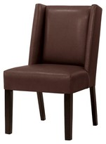 Threshold Modified Wingback Chair Espresso Bonded Leather