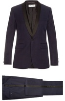 Saint Laurent Le Smoking Grain De Poudre Wool Suit