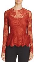 DKNY Long Sleeve Lace Blouse