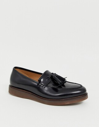 H By Hudson Calne loafers in black high shine