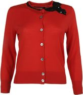 Marc Jacobs Red Bow Detail Cardigan