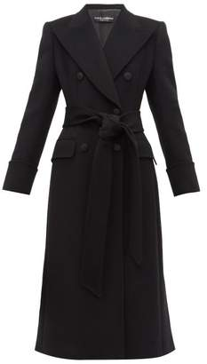 Dolce & Gabbana Double-breasted Wool Pea Coat - Womens - Black