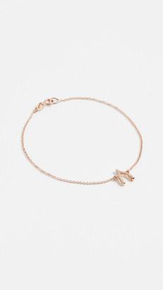 Jennifer Meyer 18k Gold Diamond Wishbone Bracelet