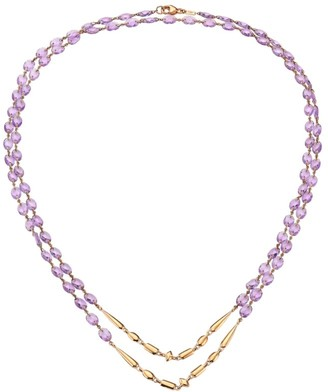 Etho Maria 18K Rose Gold & Amethyst Beaded Double-Strand Long Necklace