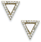 Sole Society Crystal Triangle Stud