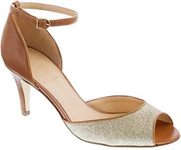 PeepToe Lara glitter peep-toe heels