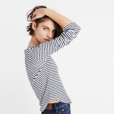 Madewell Sound Ribbed Crewneck Tee in Kramer Stripe